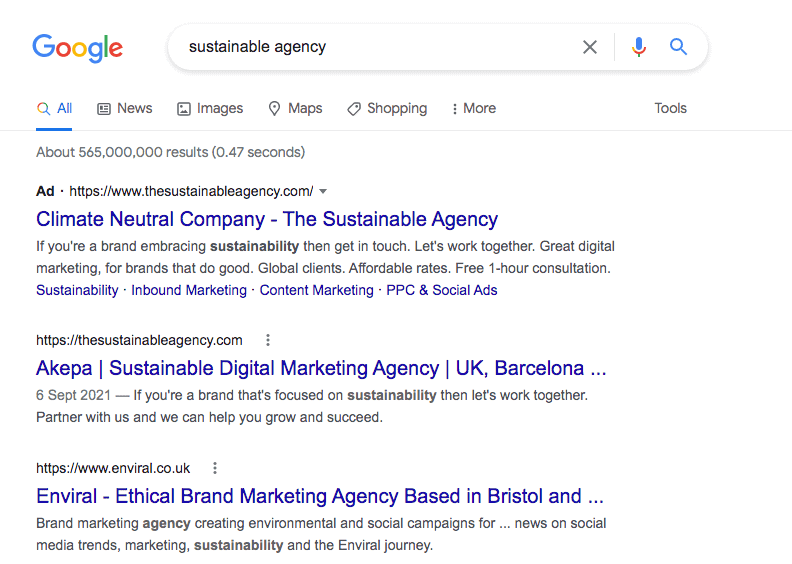 Sustainable SEO for sustainable brands - image 1-min